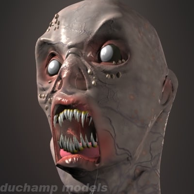 3d monster head model