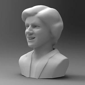 3d head woman sculpture model