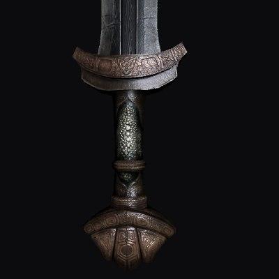 ancient viking sword 3d max