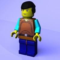 free brick figure 3d model