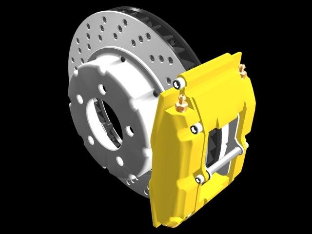 disc brake rotor caliper 3d model
