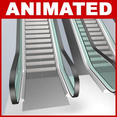 shop steps rails 3d model