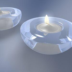 hej tealight holder candle lights 3d model