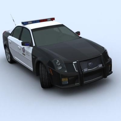cadillac cts-v sedan police car 3d model