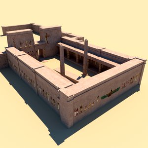 egyptian temple complex 3d model
