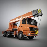 3d model man crane truck