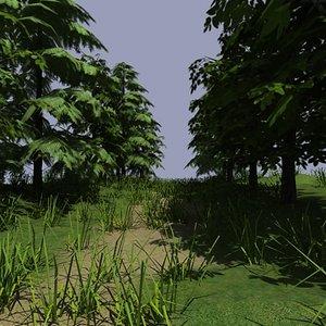 woods trees 3d 3ds