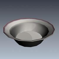 3d model corelle bowl