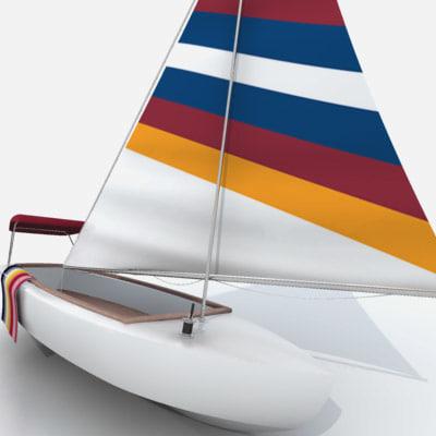 sailboat sail boat 3d model