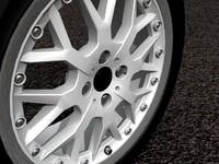 R90 3 piece cross spoke alloy wheel
