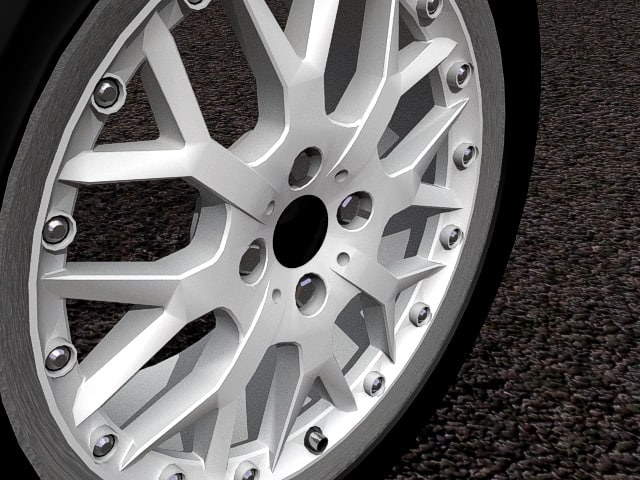 3d car r90 alloy wheel