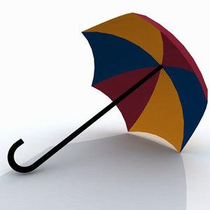 3d model giant umbrella