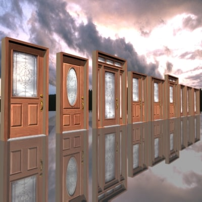 residential entry doors abbey 3d max
