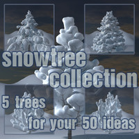 3d snowtree snow tree model