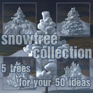 3d snowtree snow tree model