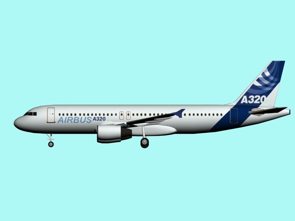 3d airbus a320 model