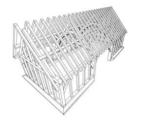 3ds timber frame barn