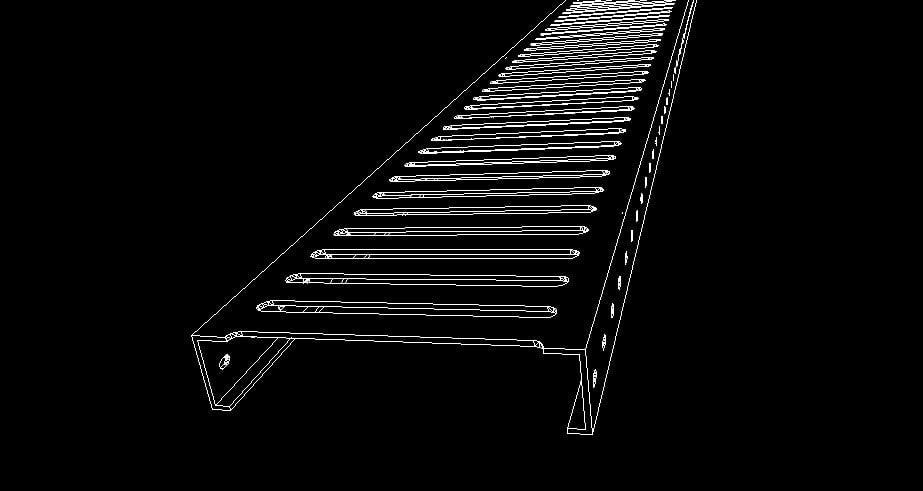 3d model open steel plank