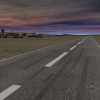 3d airbase desert model