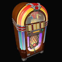wurlitzer jukebox 3d model