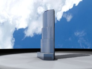 3d bank america tower landmark model