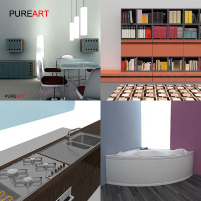 3d furniture fv1 bathroom tub model