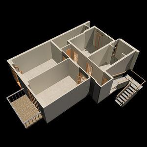 radiosity appartament 3d model