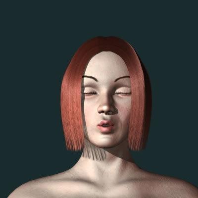 woman female girl 3d model