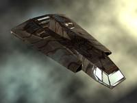 lightwave sci-fi shuttle