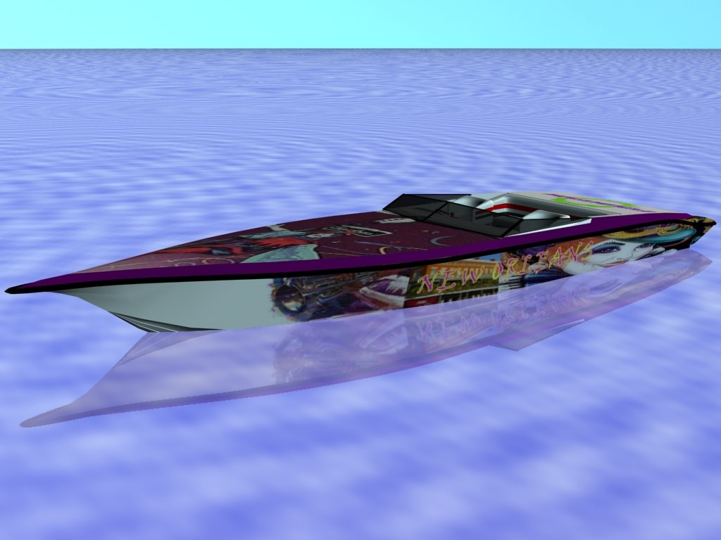 3ds max racing boat new orleans