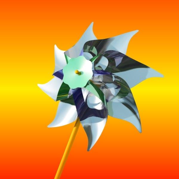 toy windmill 3d model