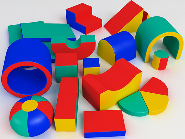 child soft playground 3d model