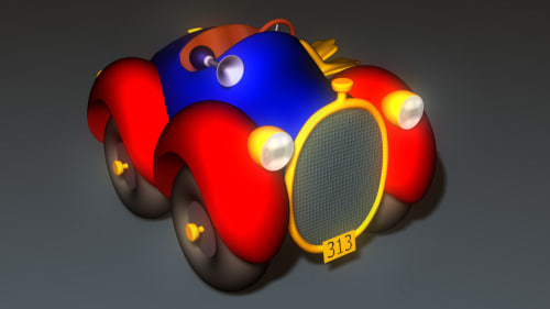 donald duck s car 3d model