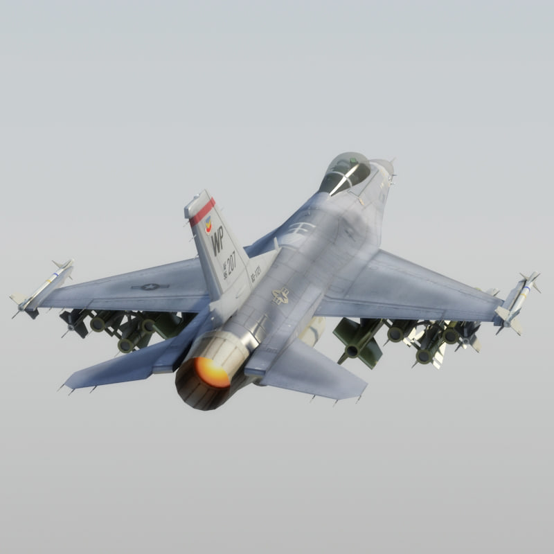 3d model f16c falcon usaf