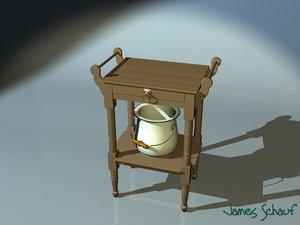 3d table bathroom chamber pot