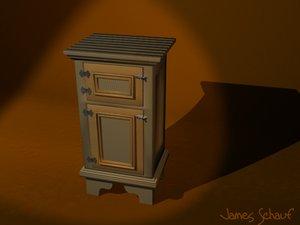 antique icebox 3d model