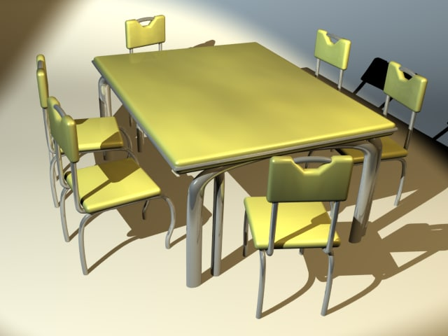 lightwave retro table chair