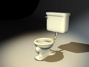 lightwave old toilet