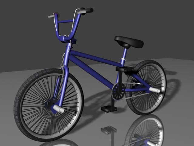 bmx freestyle bike 3d model