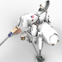 viking mars landers probes 3d model