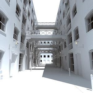 3d model alley way