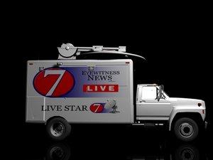 3d model satellite truck