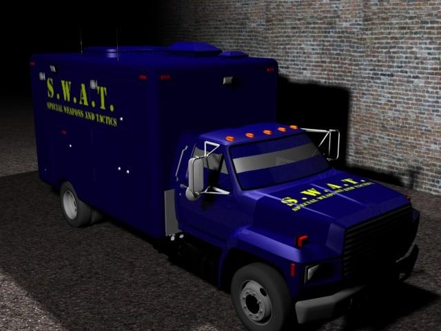 3d model of swat truck