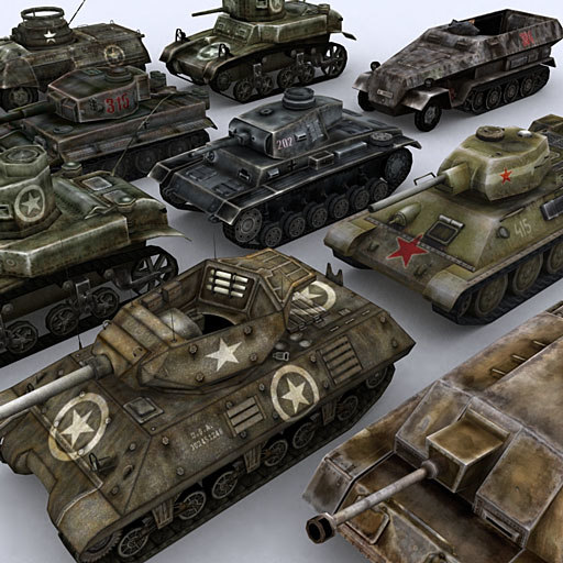 war military tanks 3d model