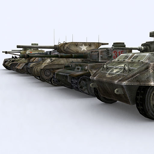 war military tanks 3d model
