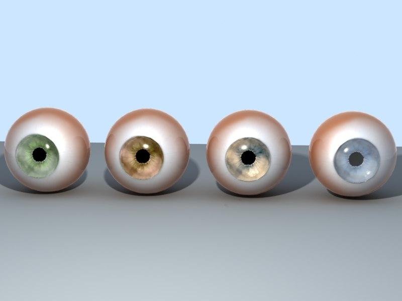 eyes pupil iris 3d max