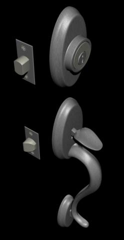 3ds max entry door handle