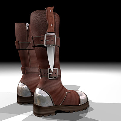 3d mountain boots