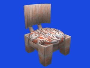 japanese chair obj