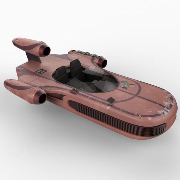 x-34 landspeeder star wars 3d model